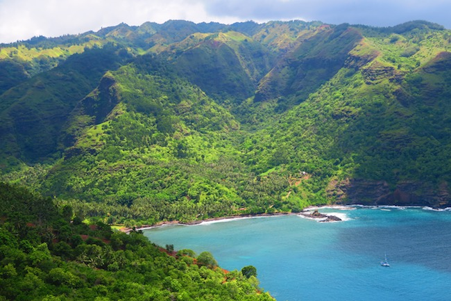 Hanatekuua Bay Hike Hiva Oa Marquesas Islands French Polynesia Hanaiapa