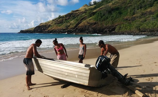 Hanatekuua Bay Hike Hiva Oa Marquesas Islands French Polynesia leaving with locals