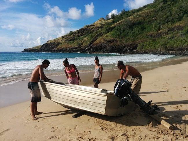 Hanatekuua Bay Hike Hiva Oa Marquesas Islands French Polynesia leaving with locals