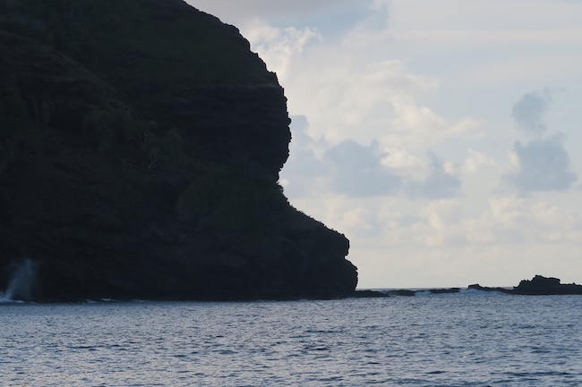 Hanatekuua Bay Hike Hiva Oa Marquesas Islands French Polynesia moray eel cliff