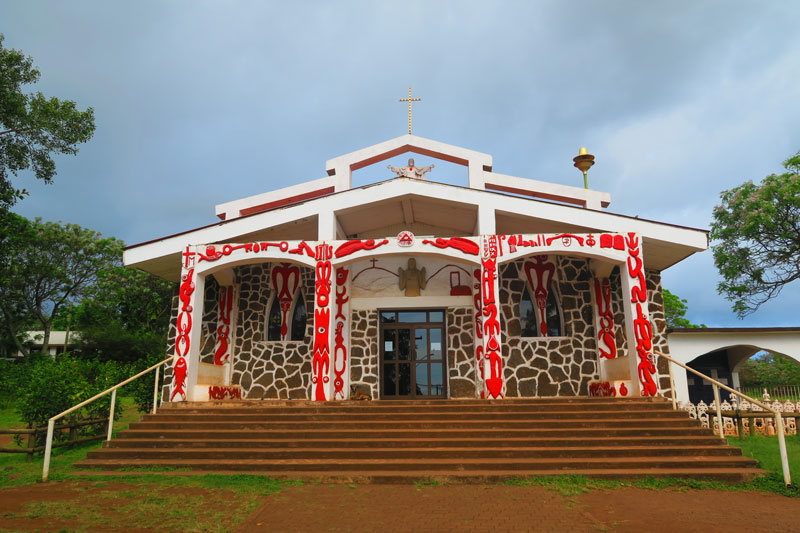 Hanga Roa Catholic Church - Easter Island