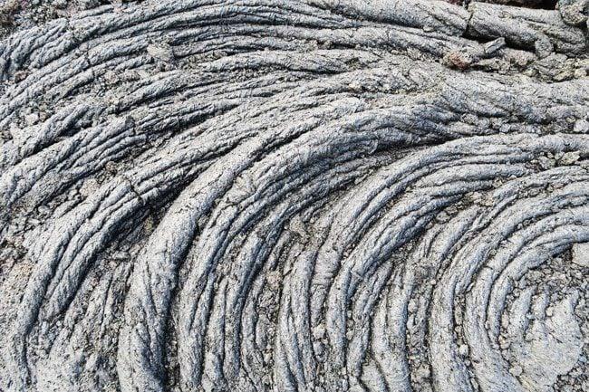 Hardened Lava Art - Hawaii Volcanoes National Park Big Island