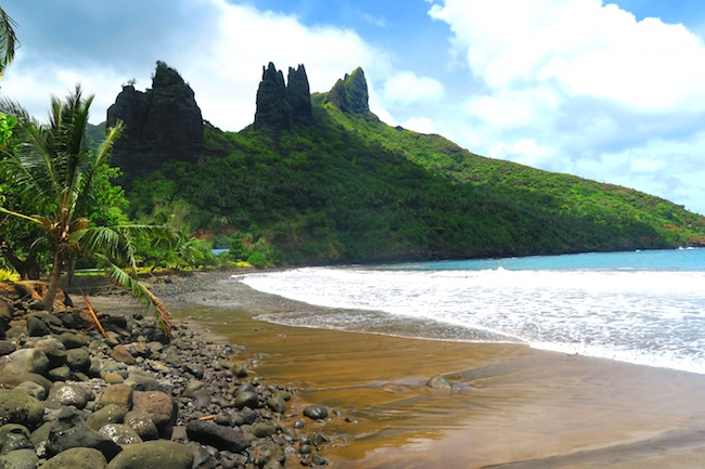 Hatiheu beach Nuku Hiva Marquesas Islands French Polynesia