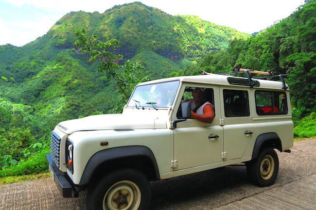 Hatiheu to Anaho Bay land rover Nuku Hiva Marquesas Islands French Polynesia