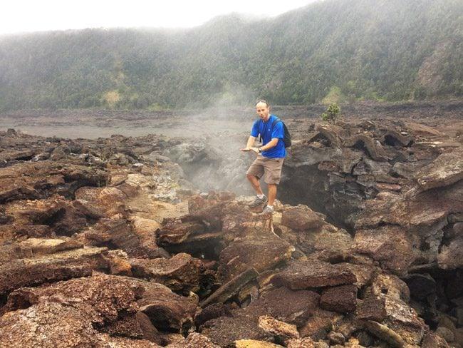 Hawaii Volcanoes National Park Big Island - Kilauea Iti Trail steam vents