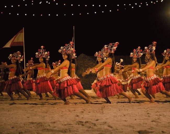 Heiva Tahiti - Cori_Osborne - women dancing in sand