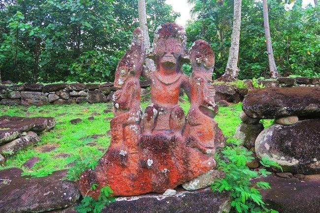 Hikokua Site nuku hiva marquesas - tiki statue