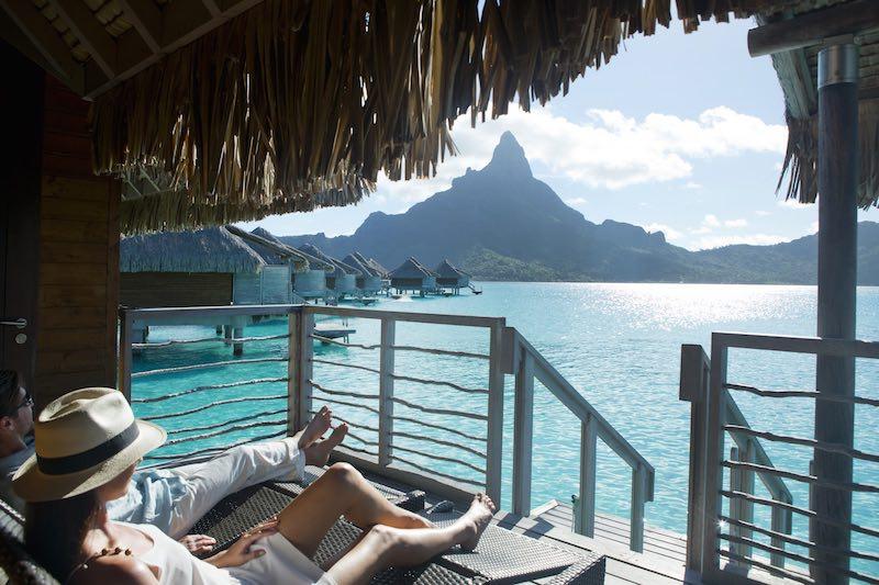Honeymoon in Tahiti French Polynesia - view from bora bora overwater bungalow