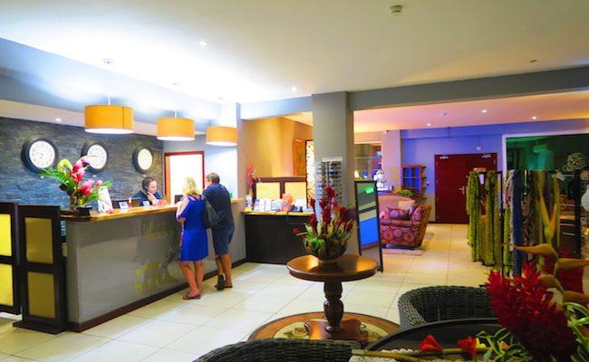 Hotel Sarah Nui Papeete Tahiti French Polynesia Reception