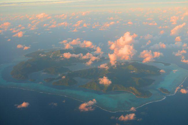 Huahine island french polynesia aerial view