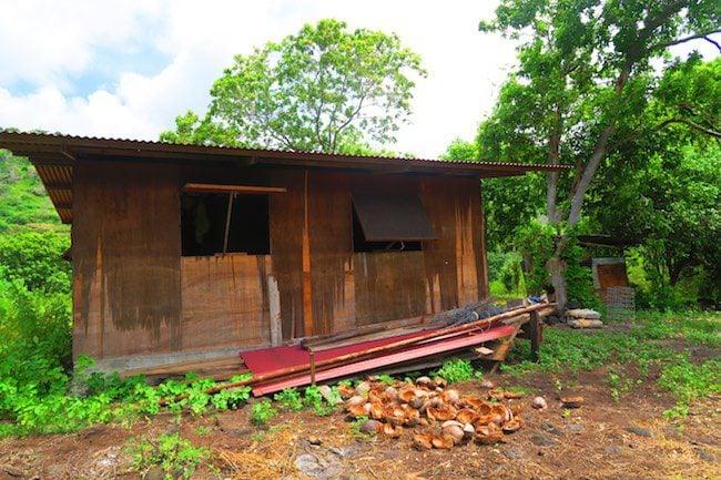 Hunting shack Nuku Hiva Marquesas Islands French Polynesia