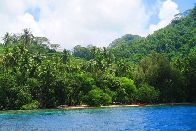 Joe Dassin tropical beach tahaa french polynesia