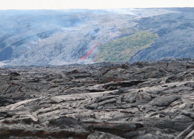 Kilauea Lava Flow - Lava viewing area Big Island Hawaii