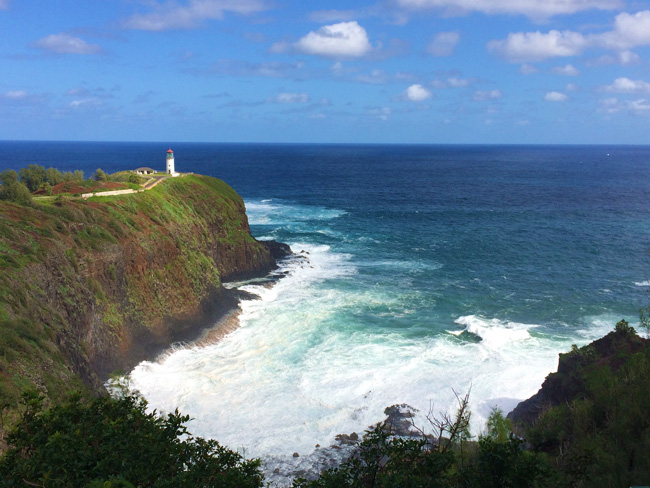 Kilauea Point National Wildlife Refuge - Kauai Hawaii - lighthouse view