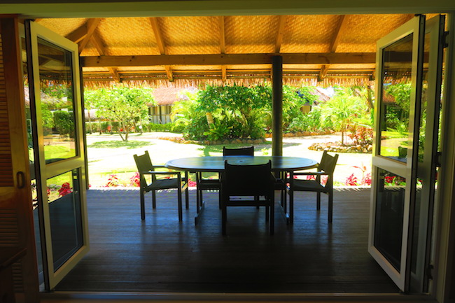 Lagoon Breeze Villas Rarotonga Cook Islands - deck