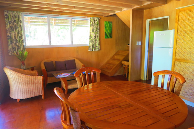 Lagoon Breeze Villas Rarotonga Cook Islands - two story living area