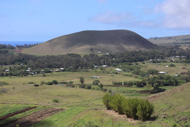 Landscape of Easter Island from Puna Pau - Easter Island