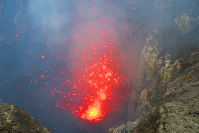 Lava Eruption Mount Yasur Volcano - Tanna Island Vanuatu Up Close