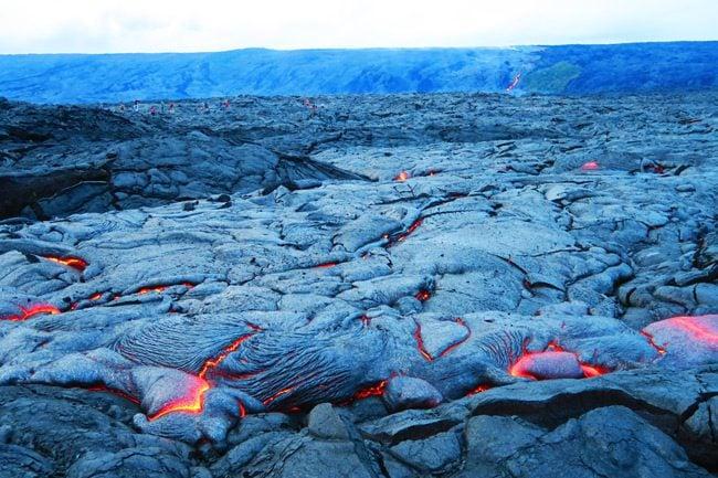 Lava viewing area - Hawaii Volcanoes National Park Big Island