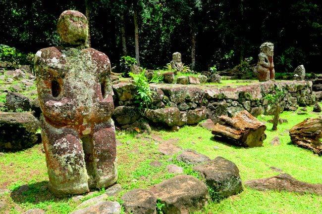 Lipona archeological site Hiva Oa Marquesas Islands French Polynesia six fingered tiki