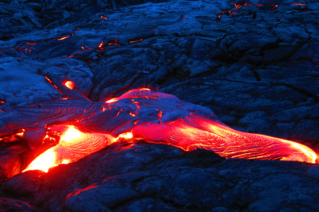Live lava flow from Kilauea - Hawaii Volcanoes National Park Big Island