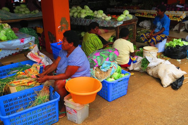 Local women at Port Vila Central Market - Vanuatu