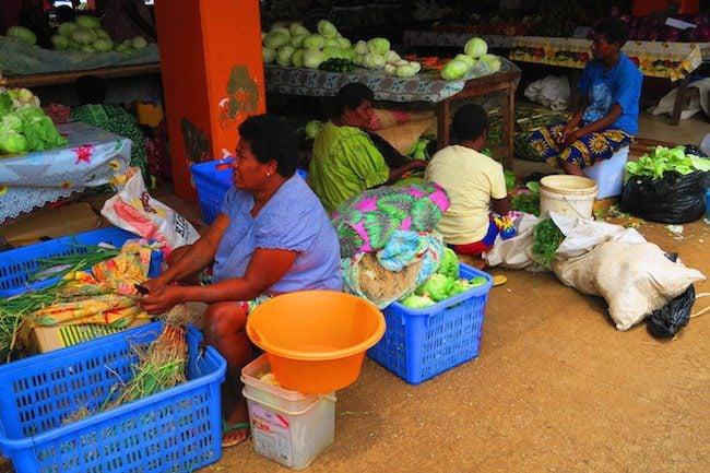 Local women at Port Vila Central Market - Vanuatu