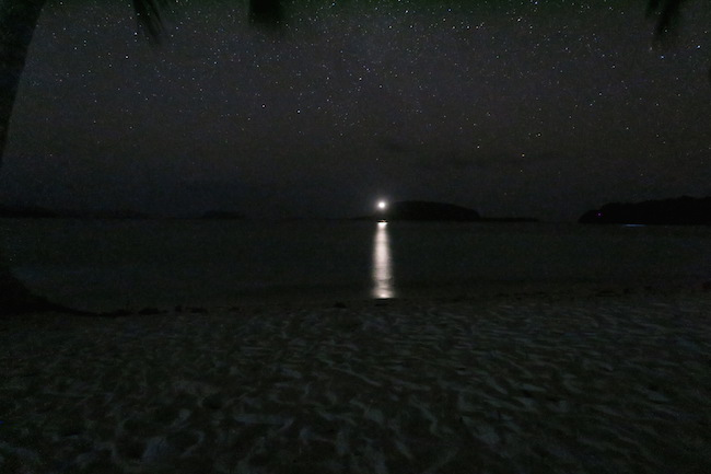 Lonnoc Beach Bungalows Santo Island Vanuatu - Night Sky