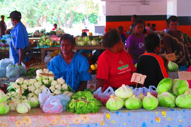 Luganville Food Market Espiritu Santo Vanuatu - Local Women