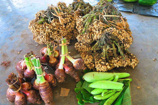Luganville Food Market Espiritu Santo Vanuatu - Peanuts and Taro