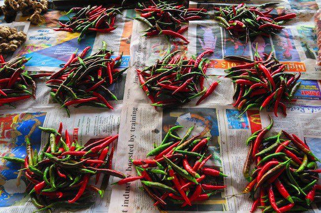 Maketi Fou Apia main market Samoa - red chilli