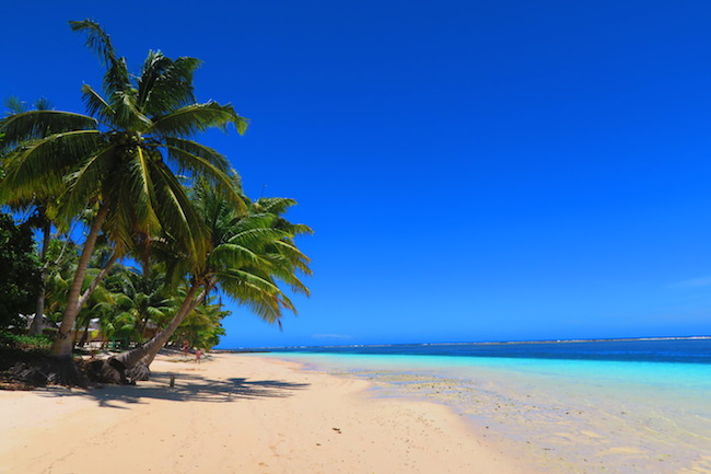 Manase tropical beach Savaii Island Samoa