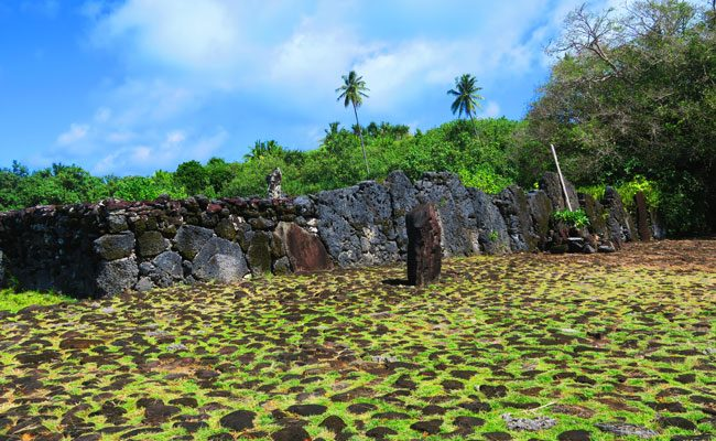 Marae Taputapuatea Raiatea Island French Polynesia alter