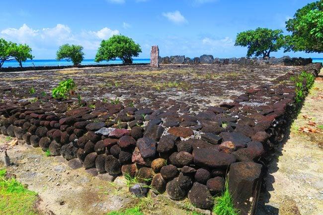 Marae Taputapuatea Raiatea Island French Polynesia