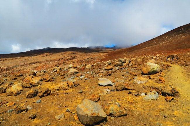 Mauna Kea Hike Big Island Hawaii - red boulders