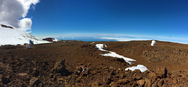 Mauna Kea Summit Big Island Hawaii - panoramic view