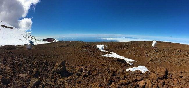 Mauna Kea Summit Big Island Hawaii - panoramic view