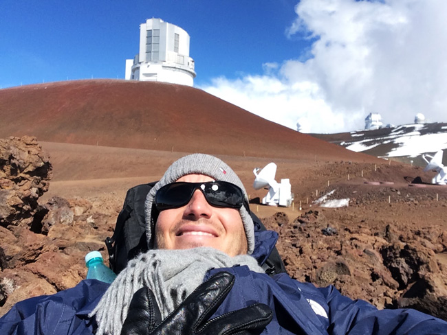 Mauna Kea Summit Big Island Hawaii - selfie