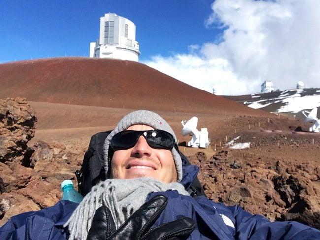 Mauna Kea Summit Big Island Hawaii - selfie