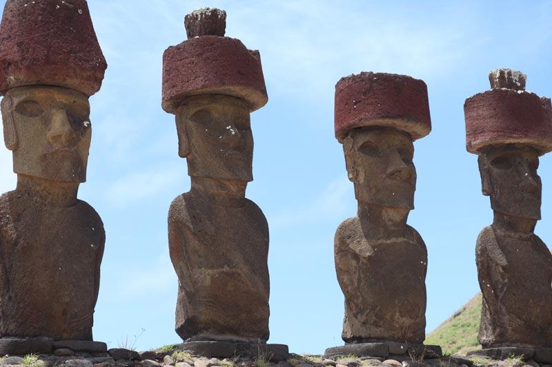 Moai in Ahu Nau Nau - Easter Island