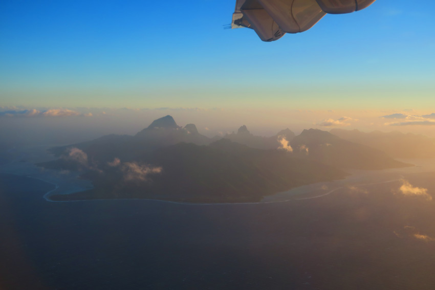 Moorea from the air - French Polynesia