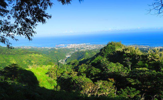 Mount Aorai Hike Tahiti French Polynesia - view papeete