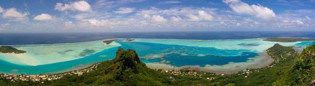 Mount Teurafaatiu Maupiti French Polynesia panoramic view