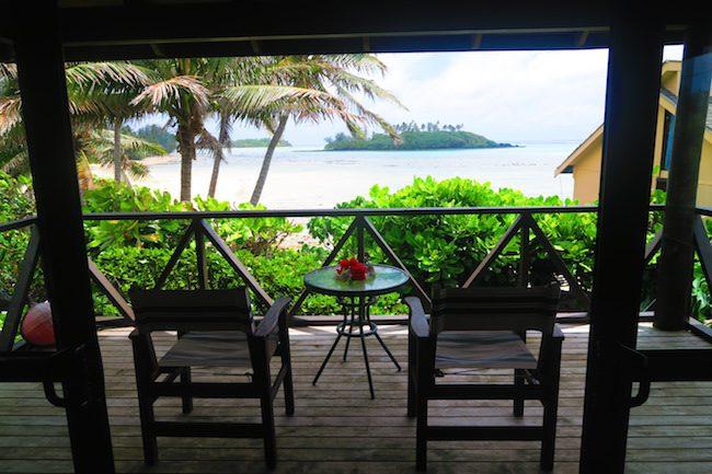 Muri Beach Cottages Rarotonga Cook Islands - deck