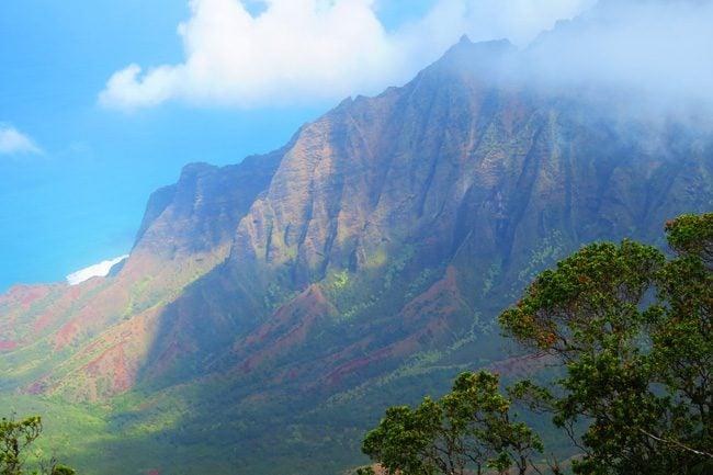 Na Pali Cliff Kauai - Kokee State Park Pu'u O Kila Lookout