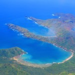 Nuku Hiva Marquesas Islands French Polynesia from the air