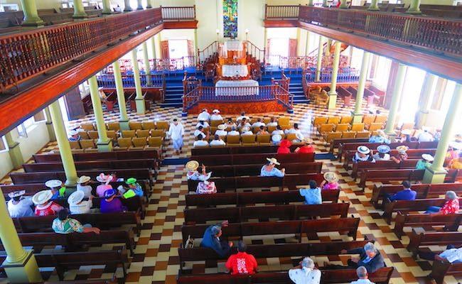 Paofai Temple Papeete Tahiti French Polynesia - interior