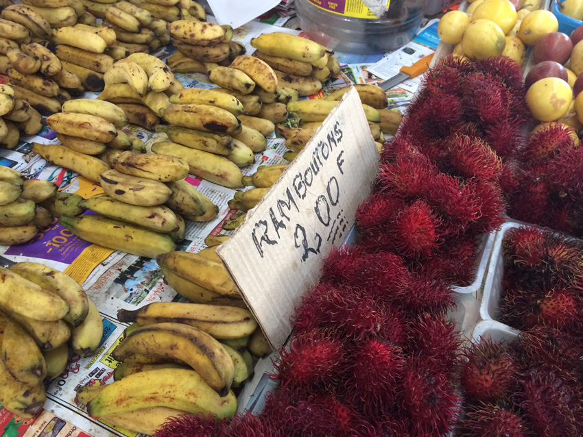 Papeete Market - Exotic Fruit - Tahiti - French Polynesia