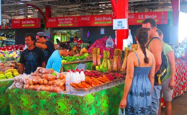 Papeete Market Tahiti, French Polynesia - buying fruit