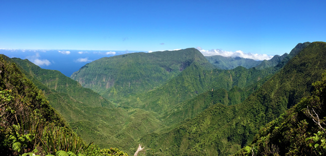 Pelekunu Valley Overlook - Pepeopae Trail - Molokai Hawaii